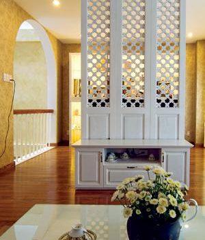 Nội thất cho căn phòng đẹp với vách ngăn